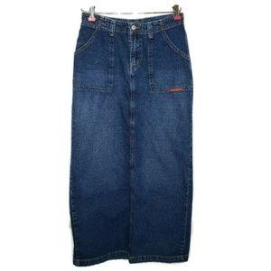 Lucky Brand Denim Maxi Skirt Size 6 28